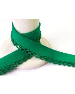 Plain Picot Bias Binding - Emerald Green