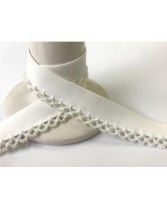 Plain Crochet Bias Binding - Off White
