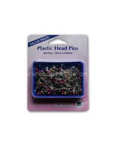 Hemline Plastic Head Pins (Box) (N)