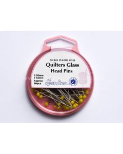 Hemline Quilters Glass Head Pins (N)