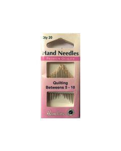Hemline Betweens/Quilting Hand Needles Size 5-10 - GOLD EYE (B)
