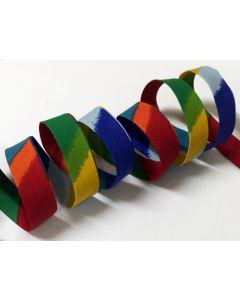 25mm Double Folded Bias Binding - Rainbow (Red)