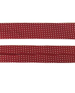 25mm SF Bias Binding - Micro Dot Ruby Red