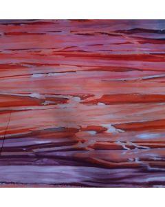 BATIK Red/Purple/Grey Stripes - Double Width 275cm