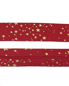 25mm SF Bias Binding - Red Stars