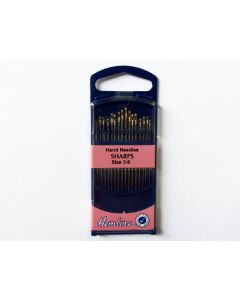 Hemline SHARPS Hand Needles Size 3-9 - GOLD EYE (E)