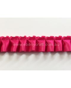 25mm Box Pleating Satin - Shocking Pink (175)