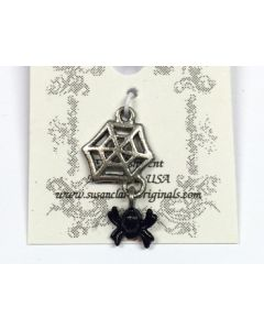 Spider and Web Charm