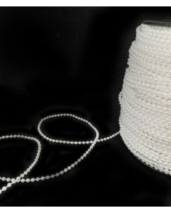 CLEARANCE - String of Pearls (Off White) - 100m Roll