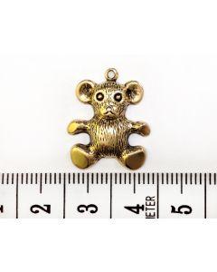 Gold Teddy Bear Charm - Large