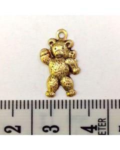 Gold Bear Charm - Medium