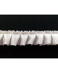 25mm Box Pleating Satin - White (029)