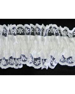 Gartering White Satin / White Lace