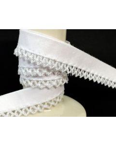 Plain Picot Bias Binding - White