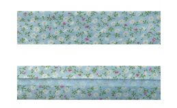 25mm SF Bias Binding - Small Daisy (Blue)