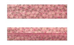 25mm SF Bias Binding - Small Daisy (Pink)