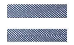 25mm SF Bias Binding - Gingham (Royal Blue)