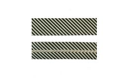 25mm SF Bias Binding - Green/White Stripes
