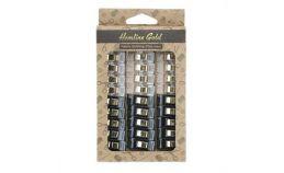 Hemline Gold Fabric Quilt Clips 30pcs Clear / Black