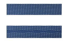 25mm SF Bias Binding - Micro Dot (Blue)
