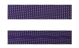 25mm SF Bias Binding - Micro Dot (Purple)