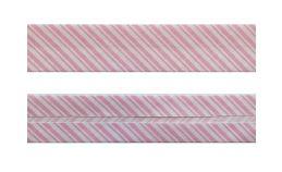 25mm SF Bias Binding- Pink Stripes
