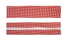 25mm SF Bias Binding- Red with White Spots