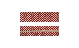 25mm SF Bias Binding - Red/White Stripes
